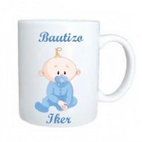 Taza bebe azul