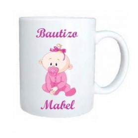 Taza bebe rosa