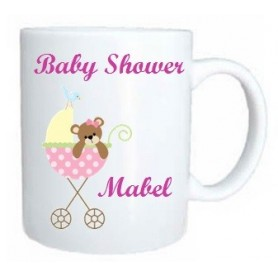 Taza baby shower rosa