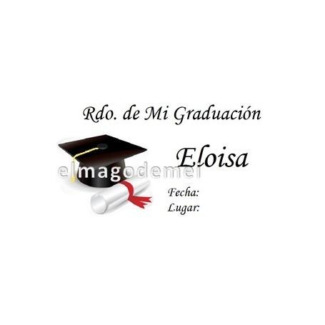 Etiqueta graduacion