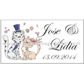 Etiqueta Boda gato corbata